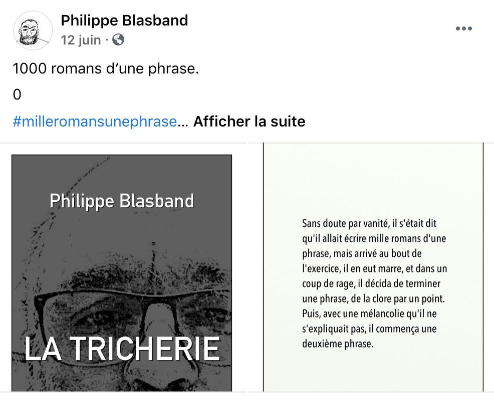 Les mille romans de Philippe Blasband